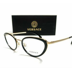 Versace Women's Black and Gold Eyeglasses!